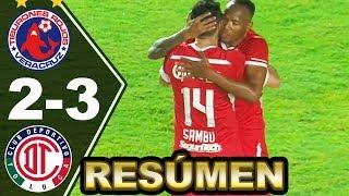 VERACRUZ vs TOLUCA 2-3 ► [RESUMEN y GOLES] Liga MX Jornada 9