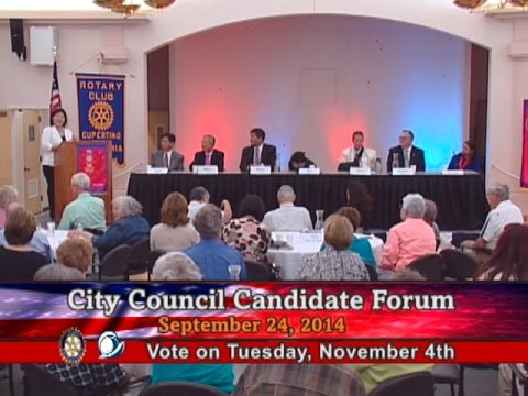 Rotary Club of Cupertino City Council Candidate Forum 2014