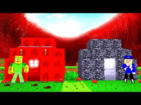 REDSTONE HAUS vs. BEDROCK HAUS - Minecraft TSUNAMI