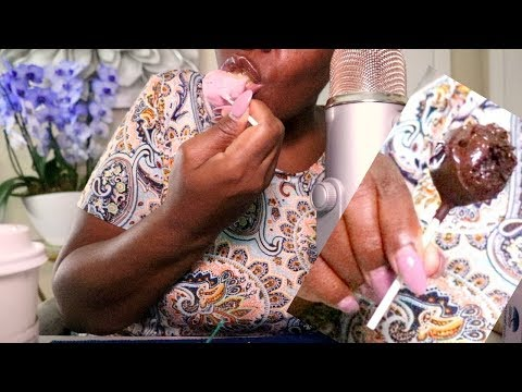 Lip Smacking ASMR Eating Sounds Dessert Pop Sandwich | Scratching