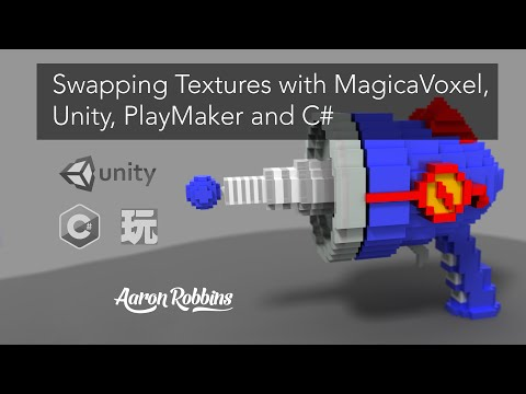 MagicaVoxel - Unity - Playmaker - C# : Swapping Textures on the Same Voxel Model