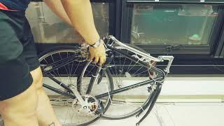 자전거 택배 접수를 위한 자전거 분해 포장 (알톤 라레…