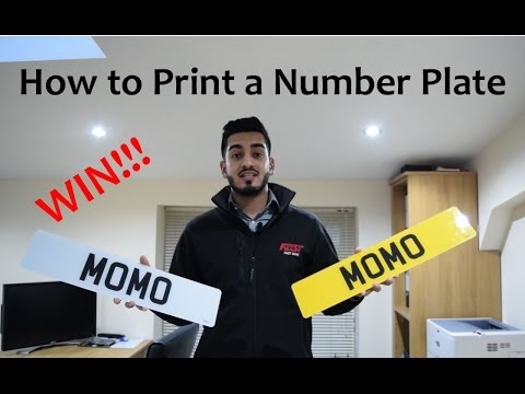 How To Print And Make A Number Plate (competition!!!)