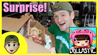 opening a surprise package from dollastic