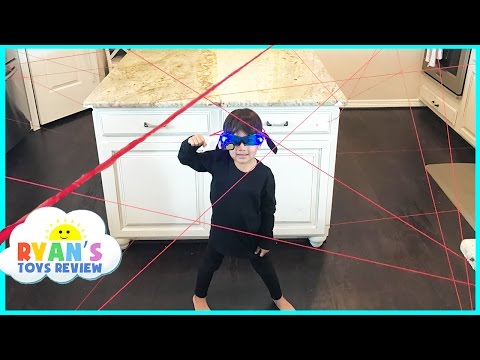 Spy Kid Laser in the House Family Fun Activities Playing Indoor Spy Gear Toys for Kids Video thumbnail
