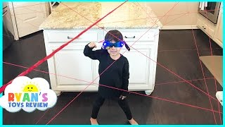 Spy Kid Laser in the House Family Fun Activities Playing Indoor Spy Gear Toys for Kids Video