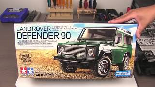 Tamiya Land Rover Defender 90 Unboxing