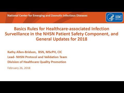 2018 NHSN Training - General NHSN Definitions for 2018