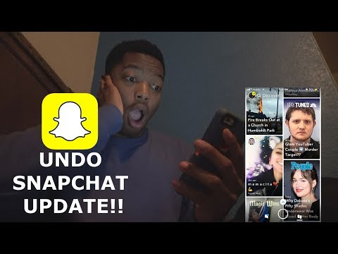 How To GET THE OLD SNAPCHAT BACK! (2018)