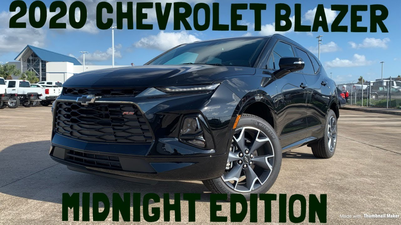 2020 Chevrolet Blazer Rs Midnight Edition Startup Review