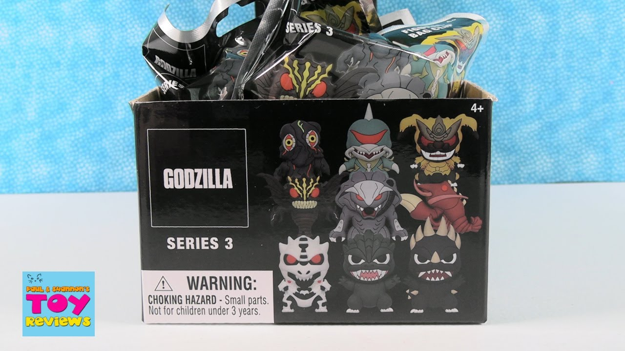 Godzilla Series 3 Figural Bag Clip Blind Bag Opening Review | PSToyReviews