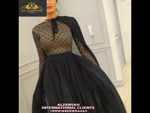Alzawiah Designer Ready To Design Beautiful Black Haute Couture Hand Made Dresses 👗 USA