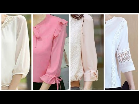 Office Wear Tunic Tops Quarter Length Sleeves Designs Amd Ideas For Women