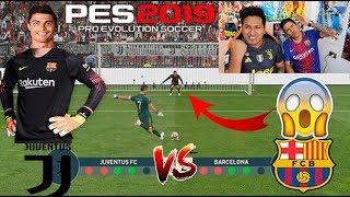 !! CRISTIANO RONALDO vs MESSI !!! Duelo de PORTEROS !! Juventus vs Barca Epic reto con castigo