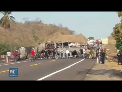 Bus, truck collision kills at least 24 in south Mexico