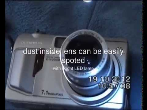 how to clean sony cybershot camera lens