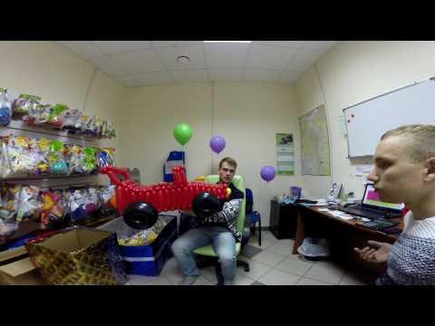 Михаил Шариков  Заехал в гости к нашему франчайзи в г  Пенза  Доставка шариков
