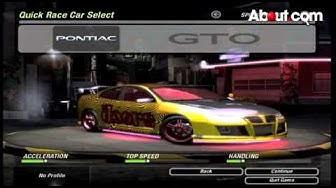 Need for Speed Underground 2 - Cheat Codes
