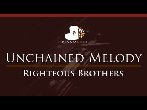 Righteous Brothers - Unchained Melody - HIGHER Key (Piano Karaoke / Sing Along)