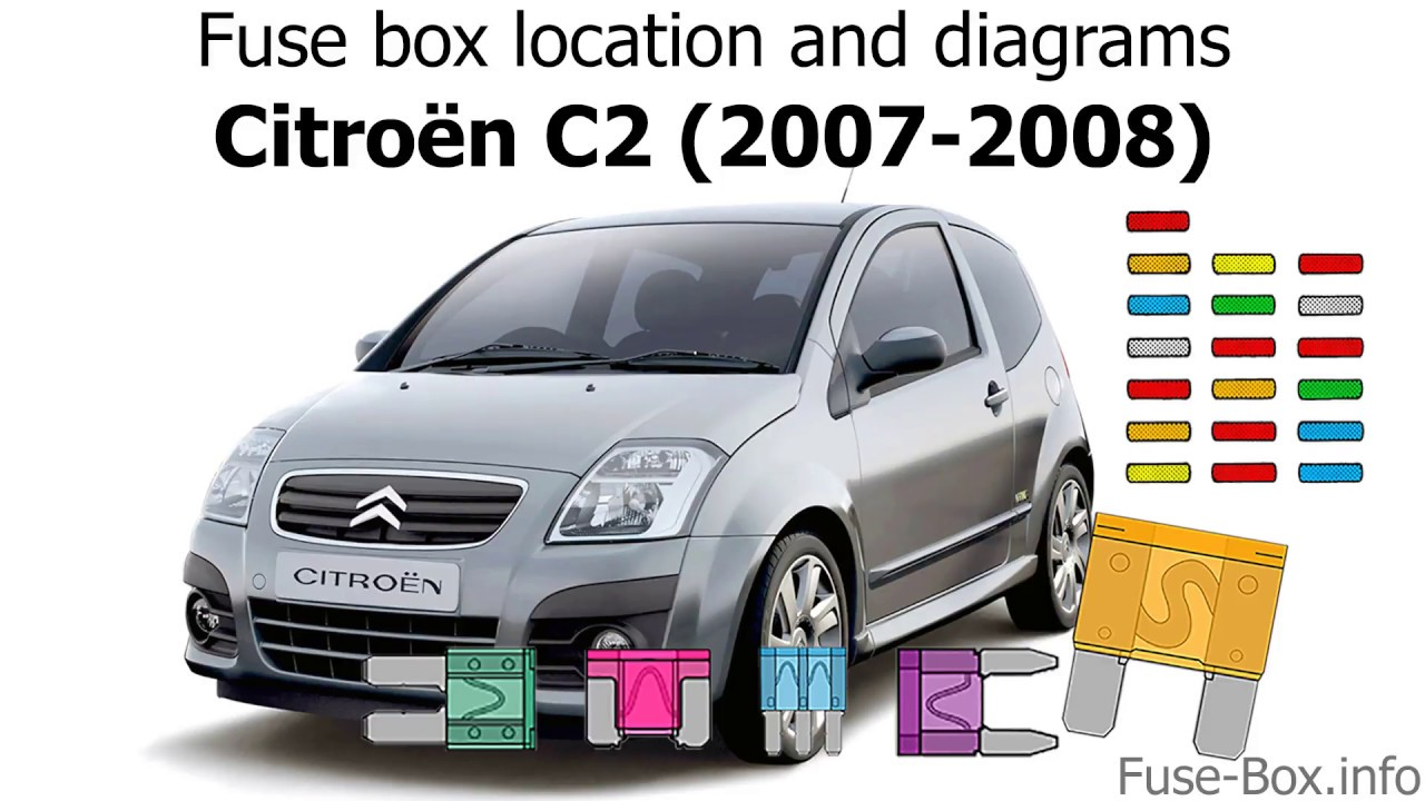 Fuse box location and diagrams: Citroen C2 (2007-2008) - YouTube | Citroen C2 Fuse Box Diagram |  | YouTube