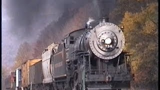 Classic Western Maryland Scenic RY: Runby at Sunnyside MD (October 16 2000)