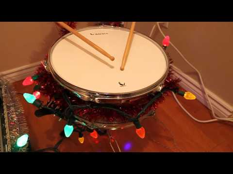 Little Drummer Boy Performed by Robot Snare Drum and HP Scanner