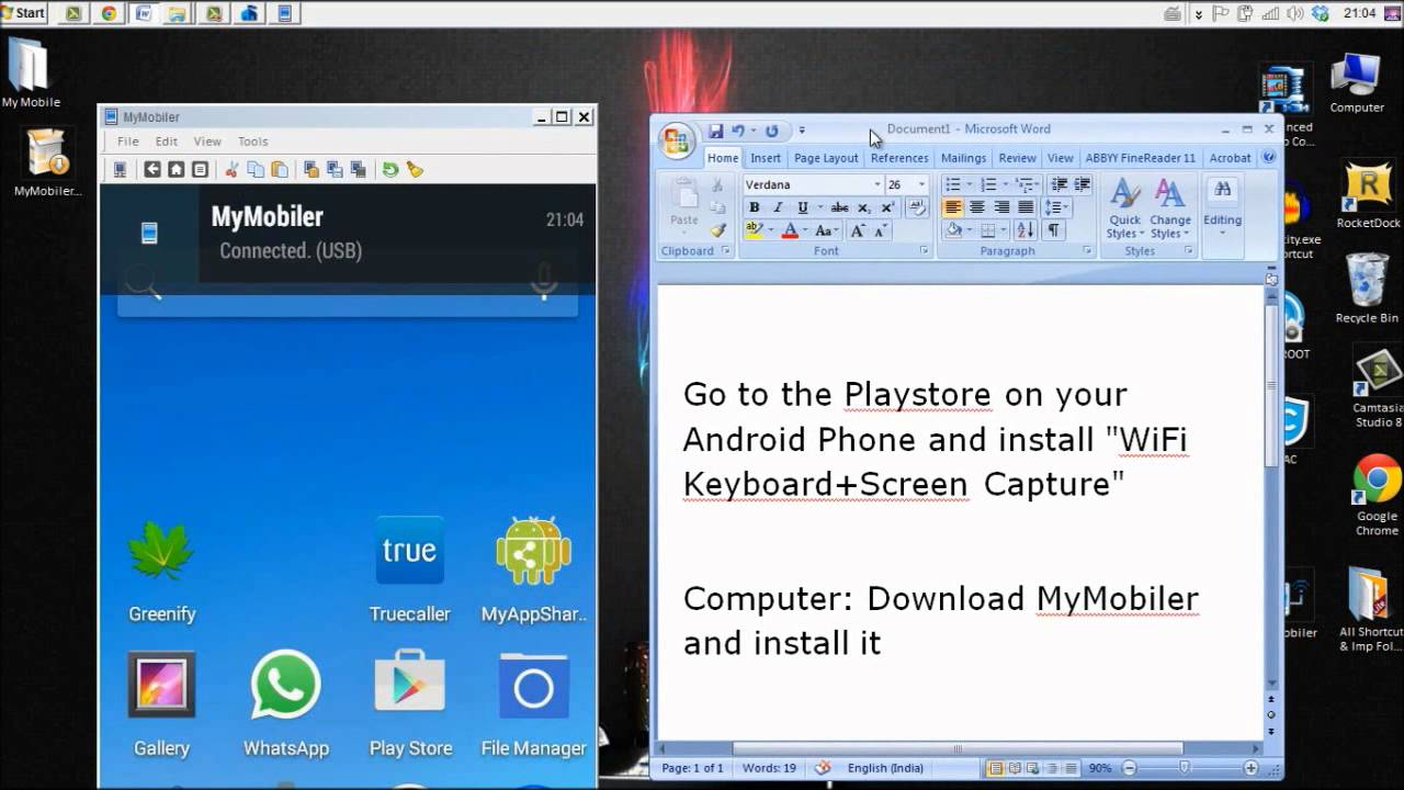 Phone How Can I Connect My Android Phone To My Computer how to show android phone screen on computer mymobiler usb wifi no root
