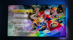 New Nintendo switch on a 4K HDR Quantum Dot Samsung TV