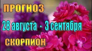 Прогноз на неделю с 28 августа по 3 сентября СКОРПИОН. Гороскоп 28 августа - 3 сентября СКОРПИОН