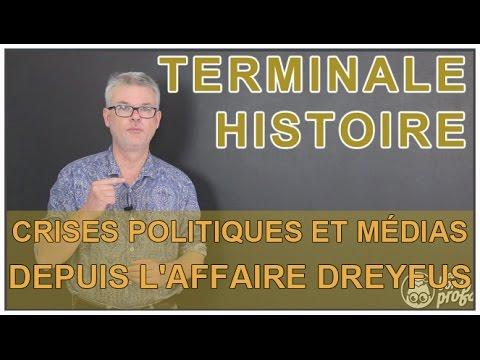 Crises politiques et médias depuis l'affaire Dreyfus - Histoire-Géo - Terminale - Les Bons Profs