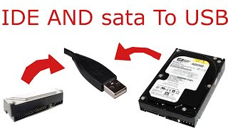 How to connect SATA or IDE Old Hard disk to laptop