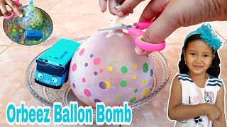 Keysha Bermain & Membuat Orbeez Ballon Bomb Dengan The Little Bus Tayo