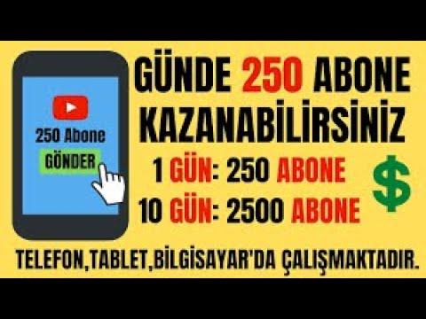 YOUTUBE GÜNDE 250