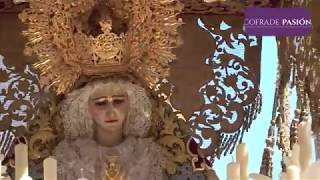 Virgen del Amparo (Borriquita) saliendo de San José y por San Agustín (Semana Santa Cádiz 2019)