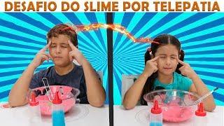 SLIME POR TELEPATIA ENTRE IRMÃOS (TWIN TELEPATHY SLIME CHALLENGE)