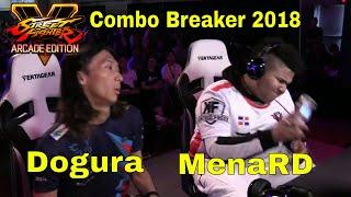 SFV AE - Dogura VS MenaRD | Combo Breaker 2018 - Day 3 | CPT 2018
