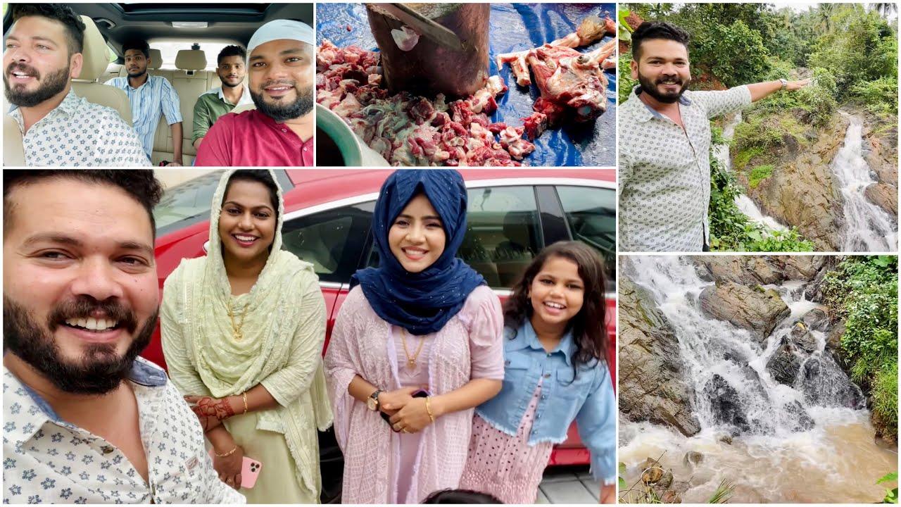 Mashura യുടെ വീട്ടിലെ Waterfalls 😍 | Our Eid At Mangalore 😍 | Suhana | Basheer Bashi | Mashura