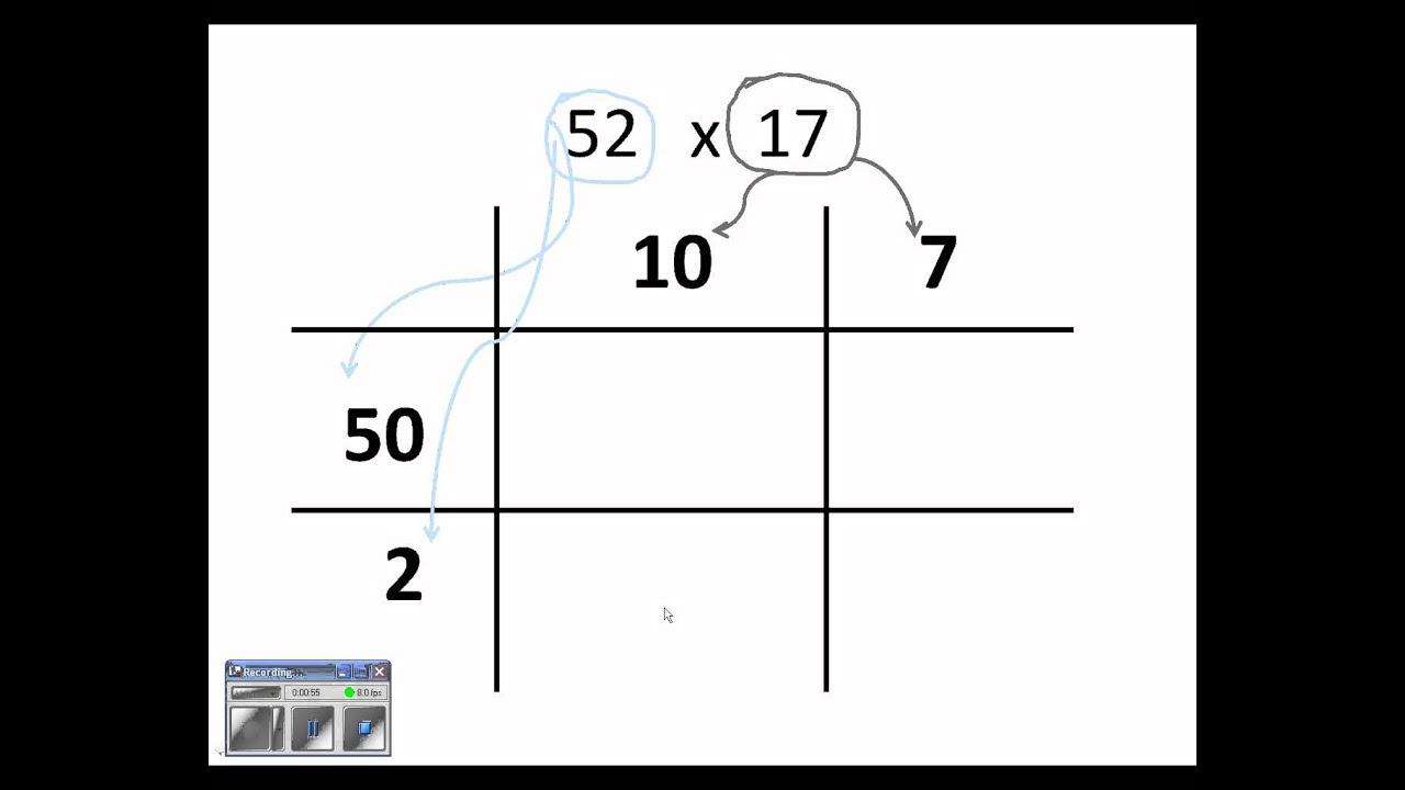 long multiplication grid method worksheets long multiplication grid method powerpoint tes. Black Bedroom Furniture Sets. Home Design Ideas
