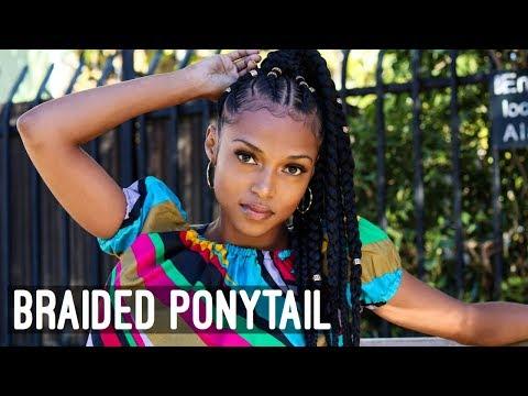 Braided PonyTail: Featuring Xpression Braiding Hair