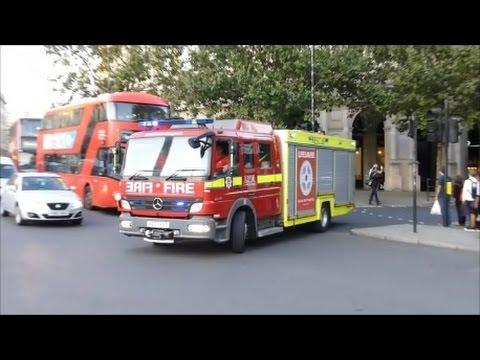 RARE - London Fire Brigade Fire And Rescue Unit Responding