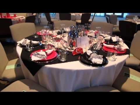 How to set a beautiful black and white + red table! - YouTube