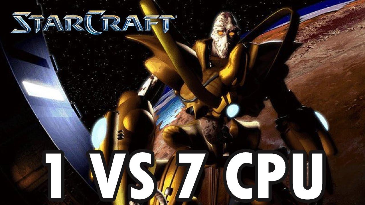 Download StarCraft Brood War - Protoss vs 7 Random Computer - Map: Big Game Hunters (Walkthrough)