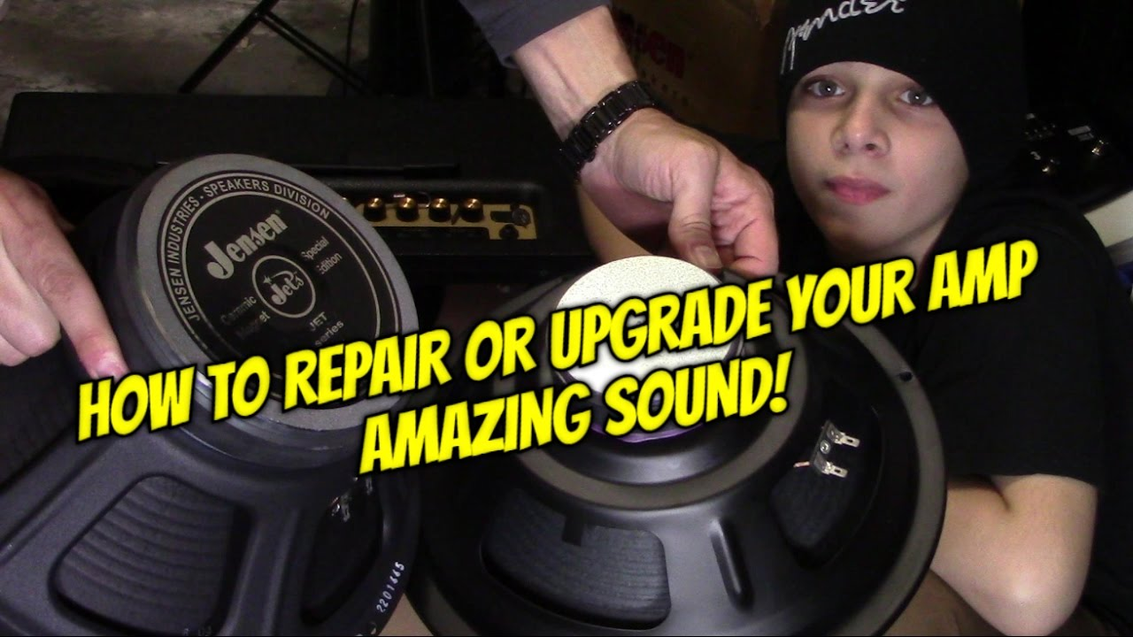 How To Install Upgraded Speaker In Old Guitar Amp Youtube Wiring Speakers