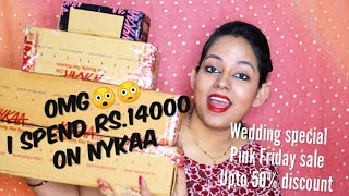 Huge Nykaa Makeup & SkinCare Haul || Wedding Special || Pink Friday Sale