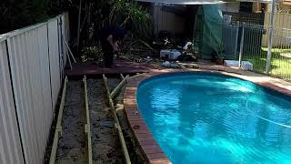Building a deck around my swimming pool