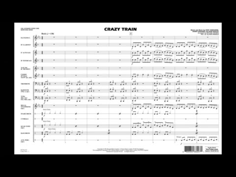 Crazy Train arranged by Michael Brown