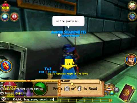 Wizard101: Tomb of the Nameless Puzzle
