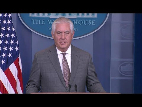Secretary Tillerson Comments on North Korea at White House Press Briefing