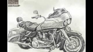 How To Draw Bike (Harley-Davidson) ROAD GLIDE