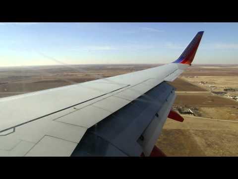 Southwest 737 Landing in Lubbock TX